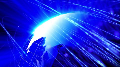 global communication blue background loop - stock footage