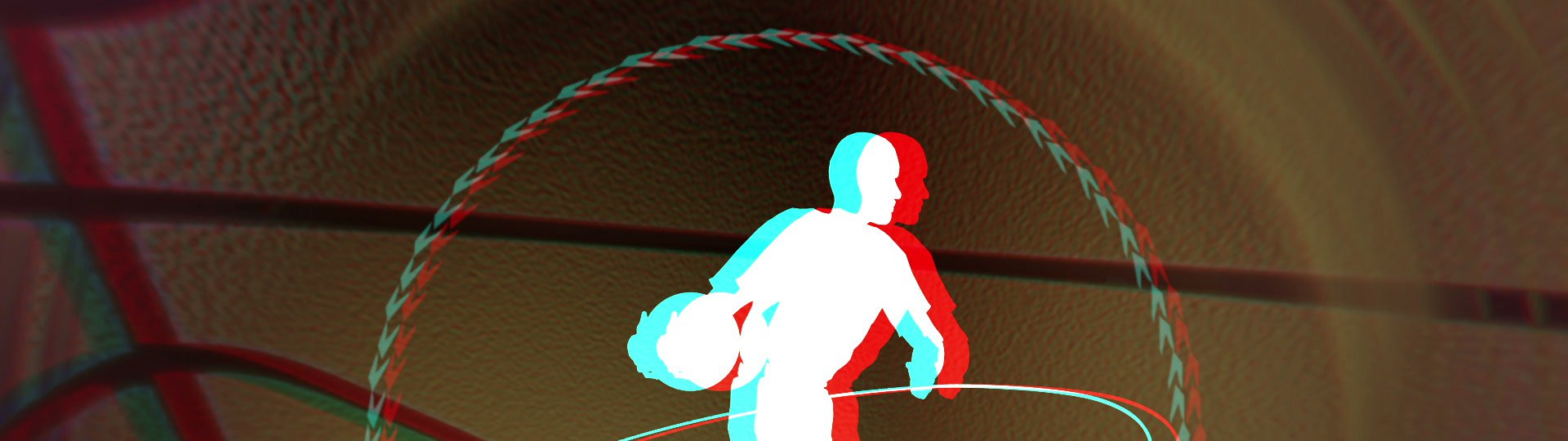 Anaglyph basketball background loop | stereoscopic 3D basketball background, seamless loop, stereoscopic 3D - anaglyph, for red-cyan glasses, HD1080p.  I can provide stereogram source sequences for left and right eye. - ID:7812