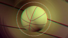 stereoscopic 3D basketball background loop