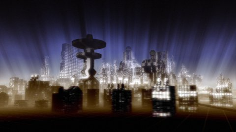 SciFi town - stock footage