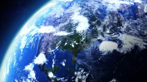 Rotating Earth Globe - stock footage