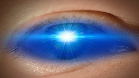 Eye of lensflare - stock footage