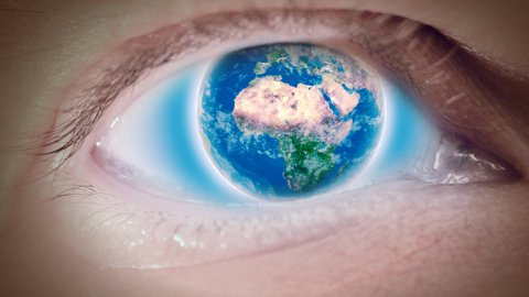 Eye of Earth - stock footage