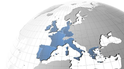 European Union expansion plus Croatia. - stock footage