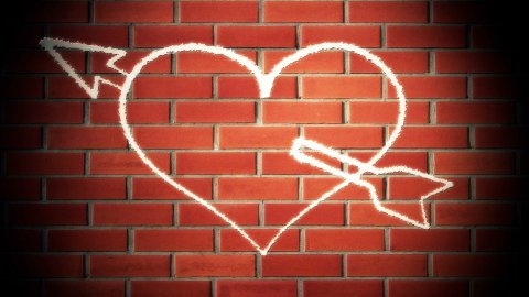 heart graffiti - stock footage