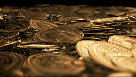 Money fly through LOOPED - stock footage