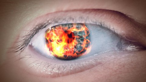 Eye of fire - stock footage