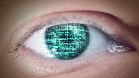 Eye of matrix - stock footage