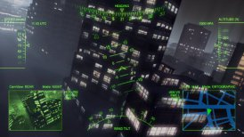 Metropolis: Helicopter patrol - motion graphic
