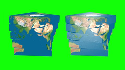 Earth cube - stock footage