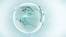Business global network - motion graphic