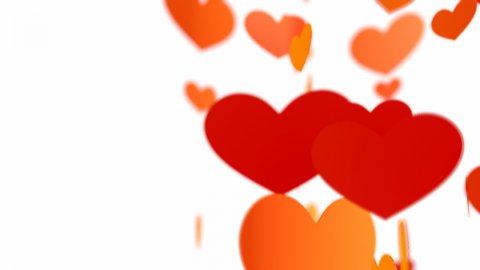 Flying hearts - stock footage