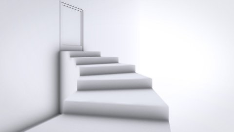 Staircase to the top - stock footage