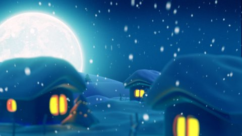 Christmas night.Clear version - stock footage