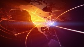 Global business network. Loop - motion graphic