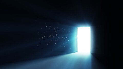 Opening the Door Low angle - stock footage