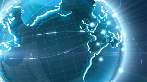 Global connect - stock footage