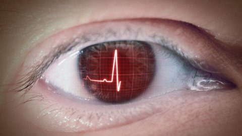 Eye of heartbeat - stock footage