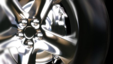 Front wheel car in motion - stock footage