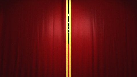 Velvet theater curtains and red carpet,Alpha included - stock footage