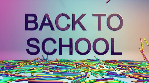 Colorful Crayons and Back2School, Alpha - stock footage