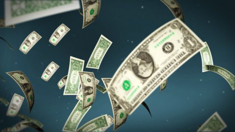 USD bill flying - stock footage