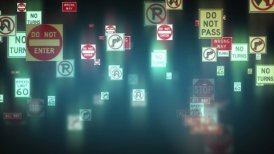 Traffic Signs Background - editable clip, motion graphic, stock footage