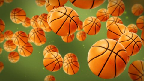 Basketballs background - stock footage