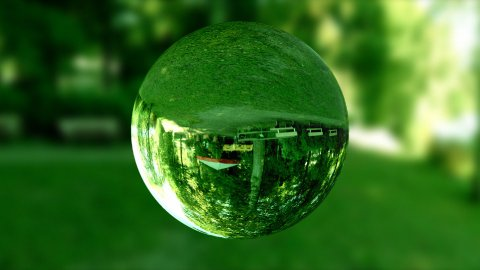 Glass orb or dew,environmental conservation, looping - stock footage