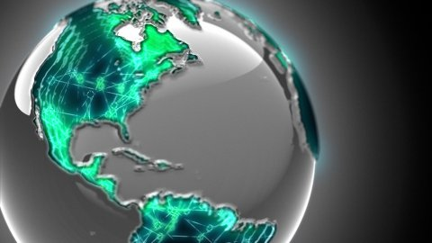 Global communication - stock footage