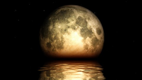 Moon Phases with lake surface reflection - stock footage
