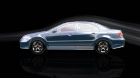 Luxurious car morphing,wind tunnel - motion graphic
