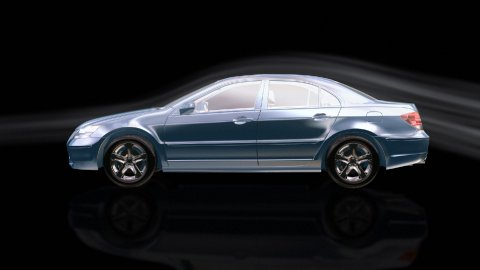 Luxurious car morphing,wind tunnel - stock footage