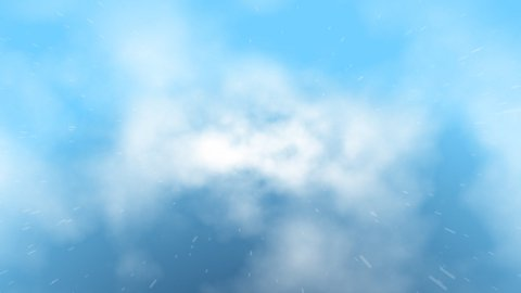 Clouds fly trough rain,loop - stock footage