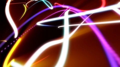 Abstract strokes of light - stock footage
