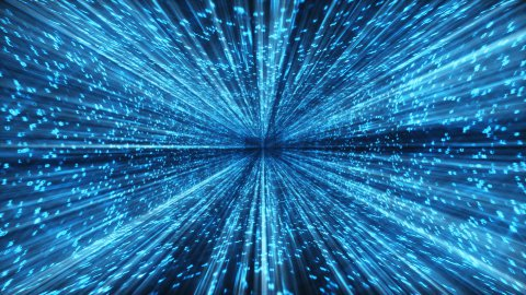 MATRIX blue shine,loop - stock footage