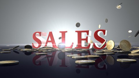SALES with EURO coins - stock footage
