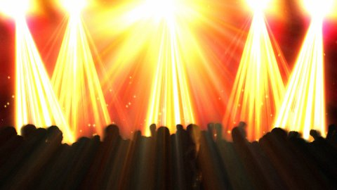 Disco Flashes and Crowd Dancing - stock footage