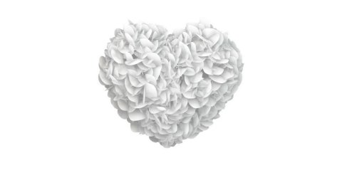 Heart of White Papers exploding - stock footage