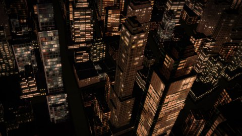City Flight at Night - stock footage