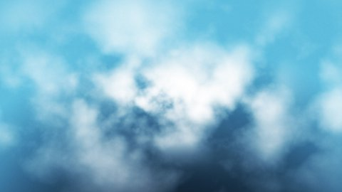 Aerial view of clouds flying through,seamless loop - stock footage