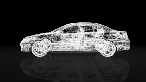 Car xray wire frame,looping - stock footage