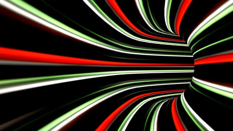 High speed technological light strokes tunnel - stock footage