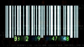 Barcode numbers - motion graphic