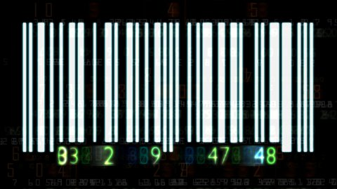 Barcode numbers - stock footage