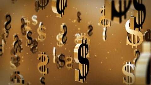 US dollar currency symbol - stock footage