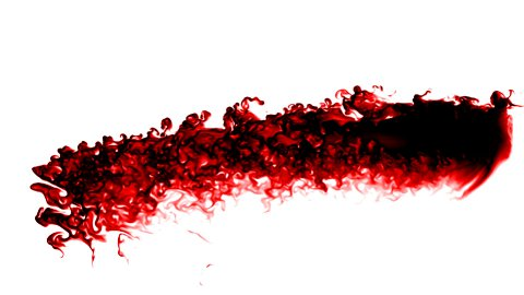 Blood splatter slow flowing - stock footage