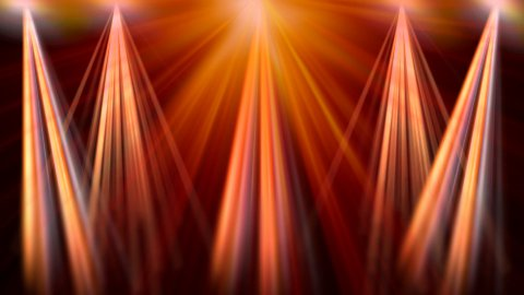 Colorful discotheque reflectors - stock footage