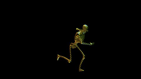 Test Robot Running, Alpha included, seamless loop - stock footage