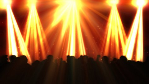 Disco flashes with concert crowd and colorful reflectors - stock footage